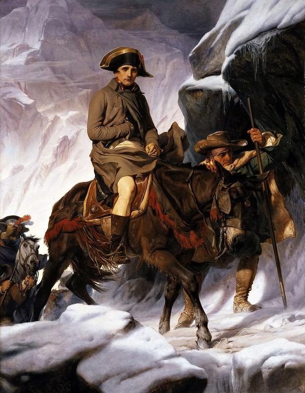 Paul Delaroche - Napoleon Crossing the Alps (1850)