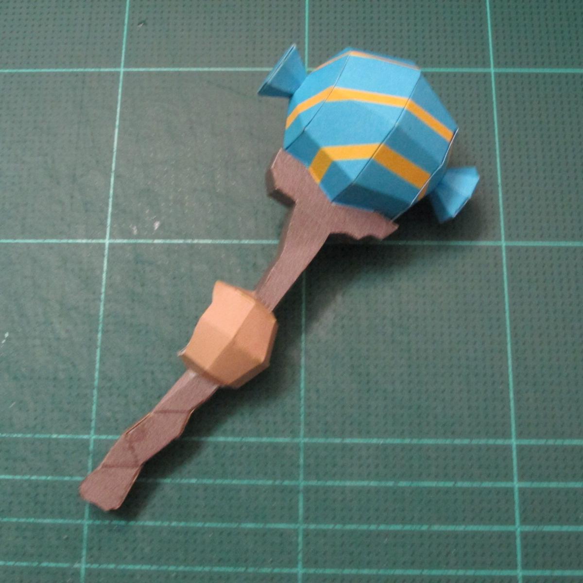 วิธีทำโมเดลกระดาษของเล่นคุกกี้รัน คุกกี้รสพ่อมด (Cookie Run Wizard Cookie Papercraft Model) 029