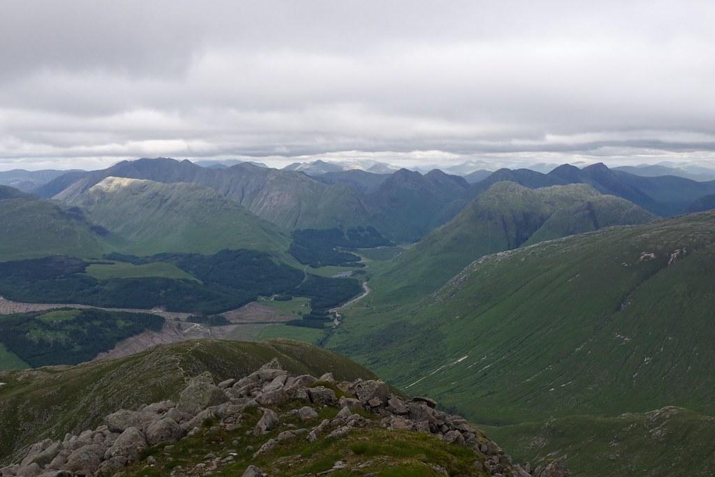 Glencoe Hills from Ben Starav