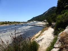 Embouchure de l'étang de Santa Giulia et du ruisseau de Vignarellu
