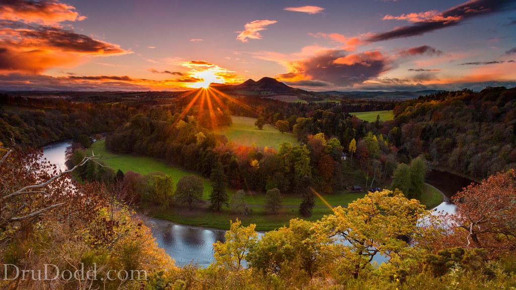 Sunset over Trimontium