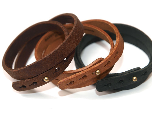 Esperanto / Pueblo Double Leather Bracelet