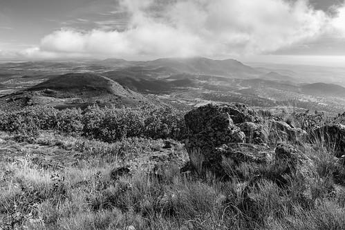bw españa naturaleza blancoynegro horizontal monocromo paisaje pastos sierras silvestre niebla montañas montes bosques nadie medioambiente extremadura caceres airelibre montanchez montañoso lugaresdeinteres eduardoestellez estellez