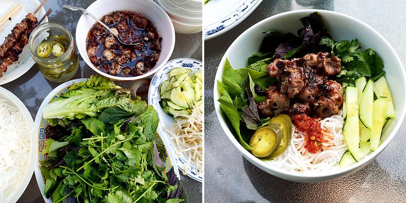 Grilled Pork Noodle Bowls
