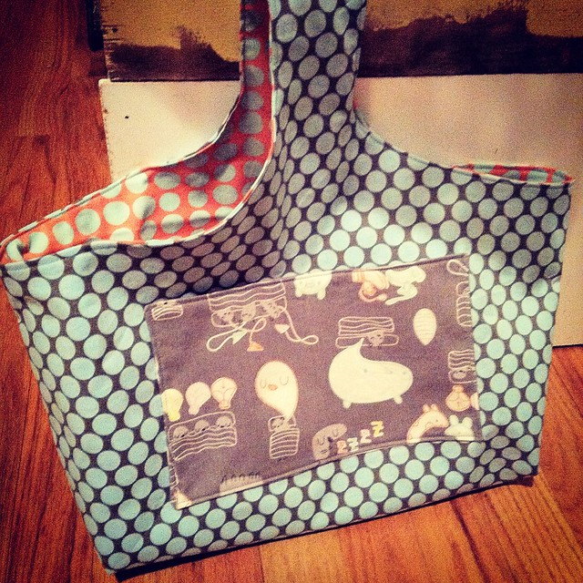 reversible knit tote