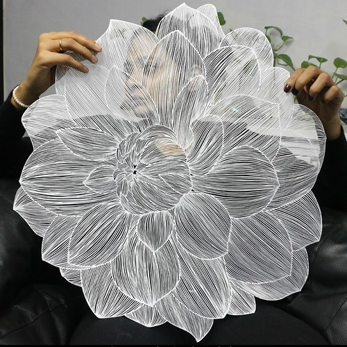 Detailed Papercut Flower