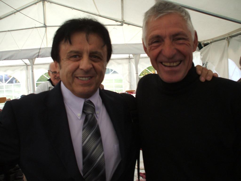Alfonso con Francesco Moser