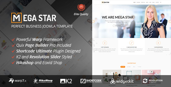 Megastar v1.1.1 - Business Joomla Template
