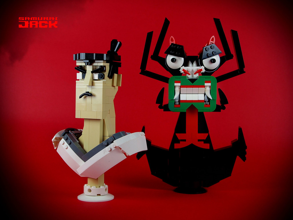 Samurai Jack & AKU (custom built Lego model)