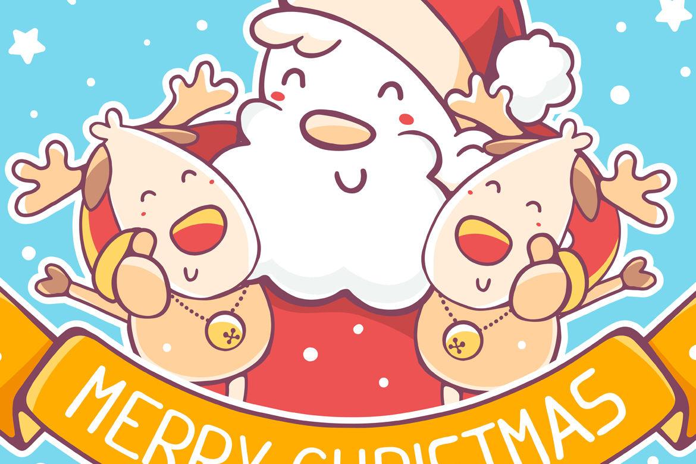 Vector Ông Già Noel - 4 Vector Ông Già Noel và Tuần Lộc