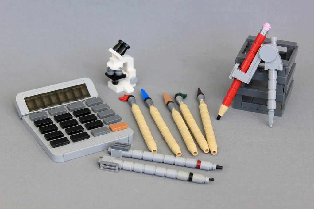 Calculator and Compass (custom built Lego model)