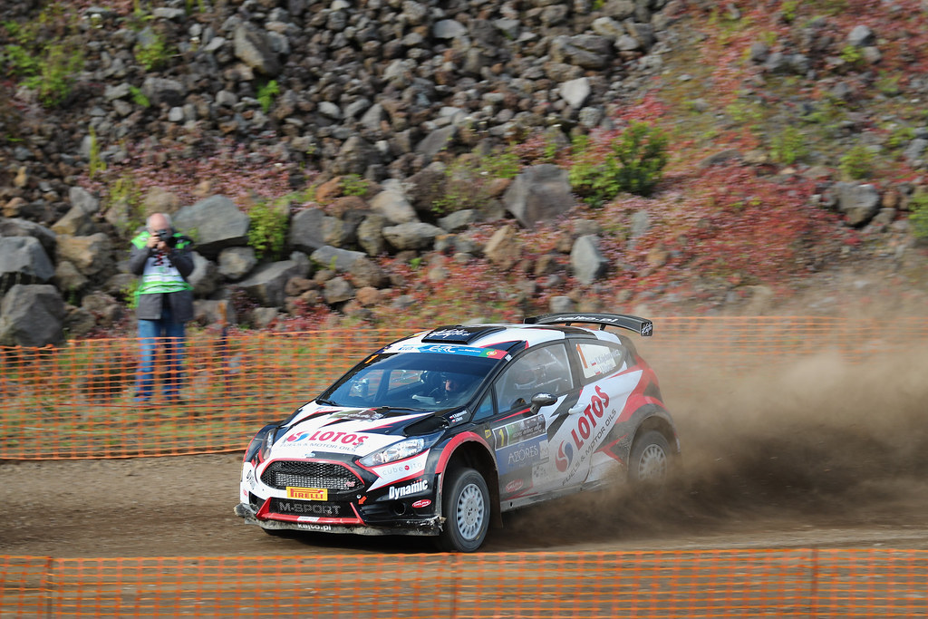 01 KAJETANOWICZ Kajetan  BARAN Jaroslaw Ford Fiesta R5 Action during the 2017 European Rally Championship ERC Azores rally,  from March 30  to April 1, at Ponta Delgada Portugal - Photo Gregory Lenormand / DPPI