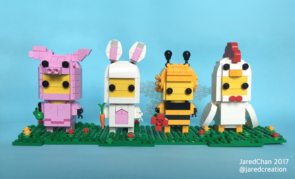 Animal Suit Guys Brickheads (custom built Lego model)