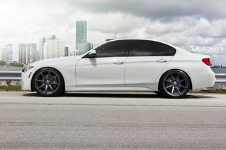 BMW F30 335I on Velgen Wheels VMB8 Matte Gunmetal