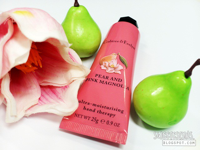 crabtree & evelyn pear and pink magnolia ultra moisturizing hand therapy