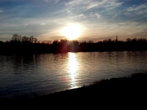 Delaware River sunset