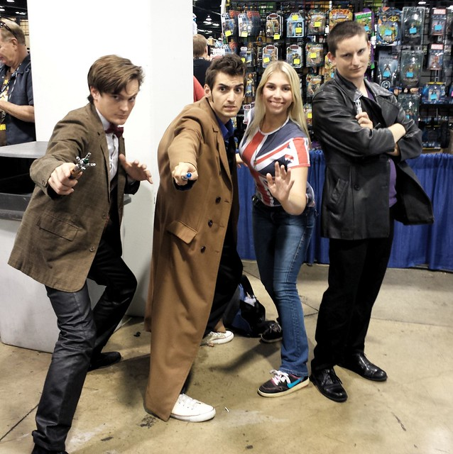Three Doctors and Rose - Action