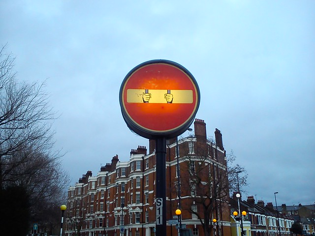 Creative traffic sign