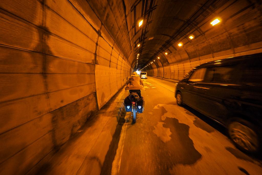 Tunnels near Hobetsu Campground, Hokkaido, Japan
