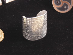Nickel Celtic Bunnies Cuff Bracelet