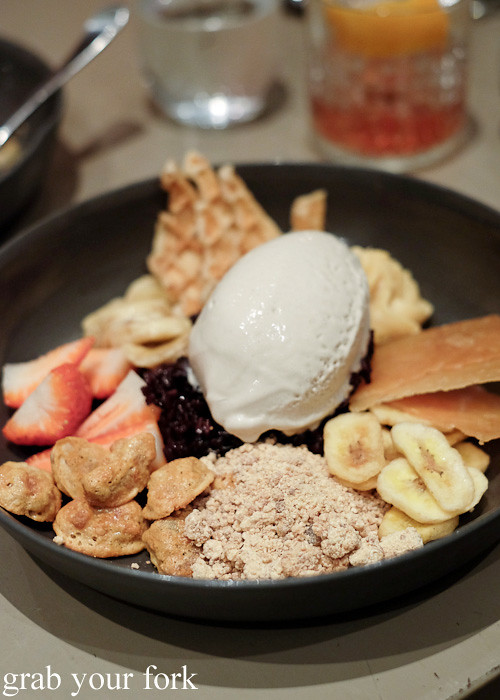 Banana and rum dessert at Pinbone, Woollahra
