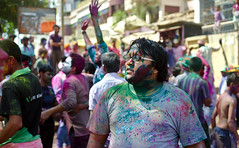 Playing Holi (2)