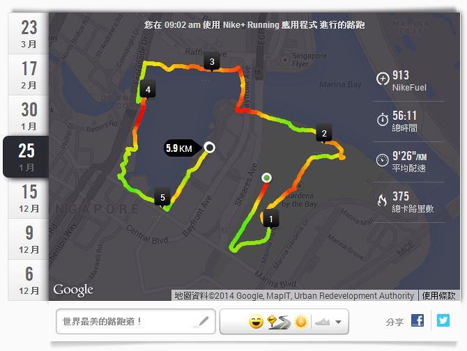 Nike+新加坡濱海灣環O-世界最美的路跑道