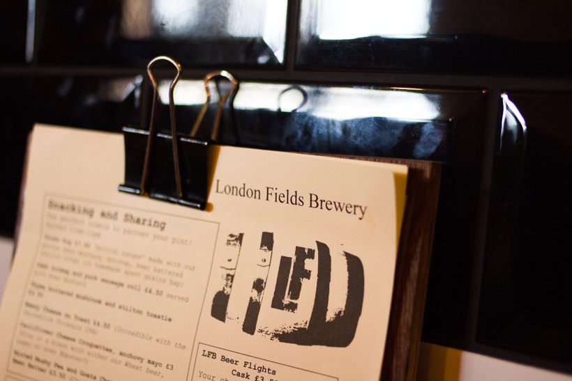 London Fields Brewery, Tap room