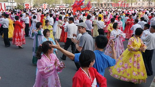Traditional dancing during Kim Il Sung Birthday Celebrations April 15, 2014