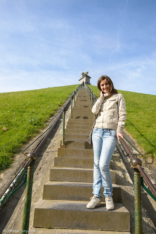 226 stairs at the lion's mound in Waterloo, Belgium