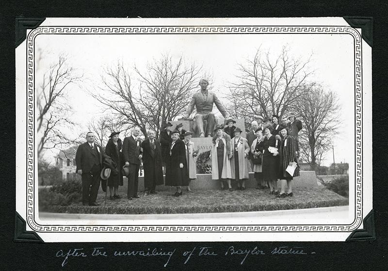 Judge R.E.B. Baylor Statue, Baylor University, after the unveiling.