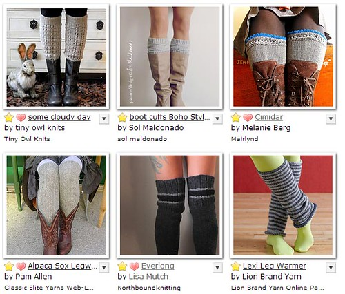 legwarmers and boot cuffs