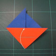 การพับกระดาษเป็นรูปเรือใบ (Origami Sail Boat) 007