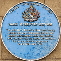 Photo of Harry Rutherford blue plaque