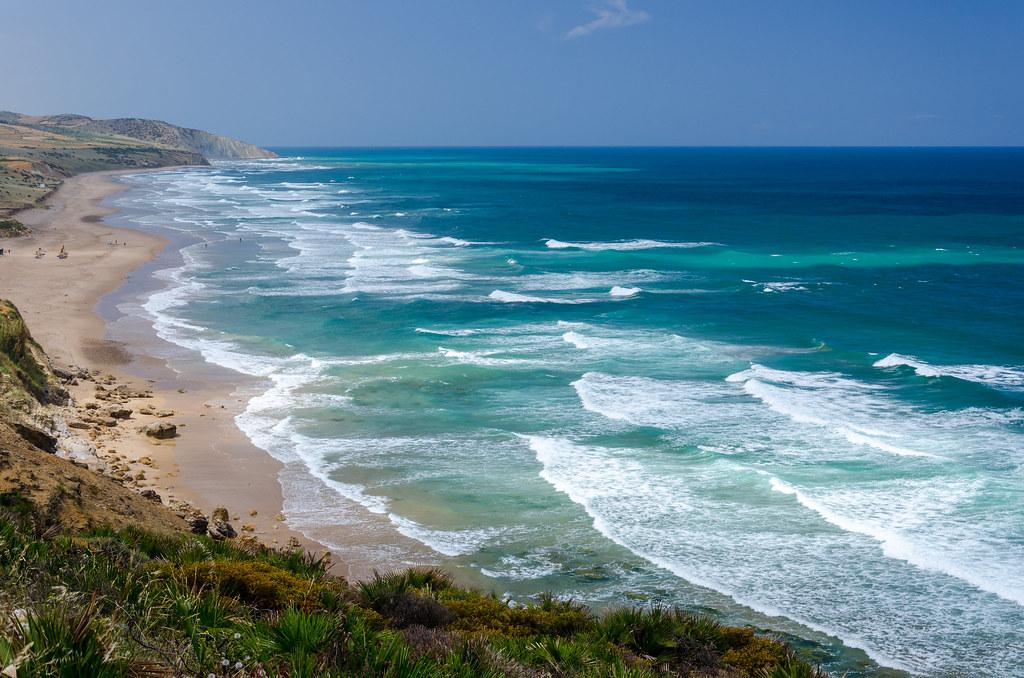 Plage de Paradise Beach au sud d'Asilah - Photo de Fr Maxim Massalitin