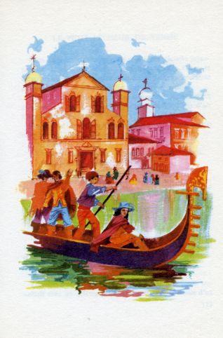Le petit pêcheur de Venise, by Jacques CHRISTOPHE