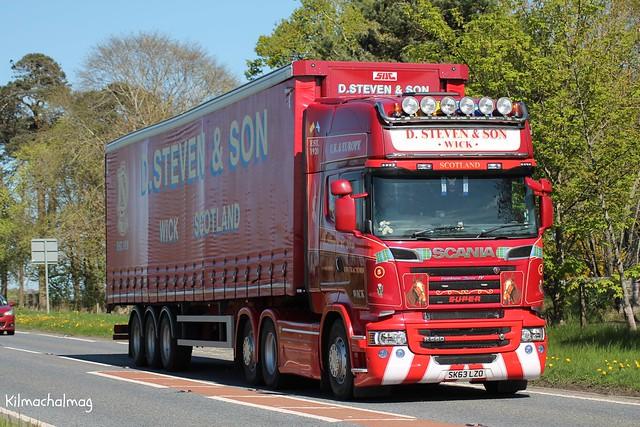 D. Steven & Son Wick Scania R560 SK63 LZO