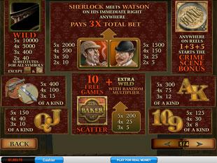 Sherlock Mystery Slots Payout