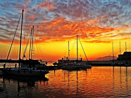 sunset españa atardecer mar spain andalucia costadelsol puestadesol marbella