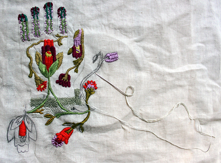 Embroidery in progress - May 19
