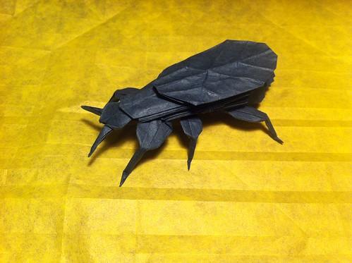 Leaf Insect w/ O-Gami paper by K Schwinn