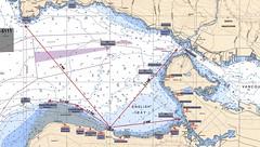 chart of English Bay (Luna Log entry)