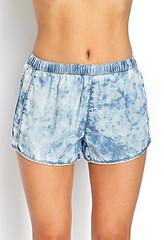 Forever 21 Splotchy Denim Shorts
