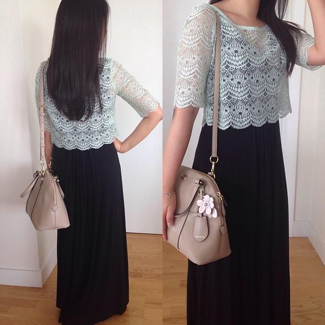 Yesterday's #ootd #mint #lace // Shop the same/similar here: www.liketk.it/P1W @liketkit #liketkit