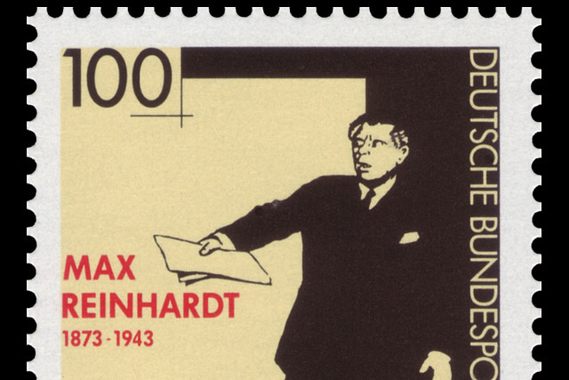 German stamp marking the 50th anniversary of Max Reinhardt's death
