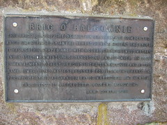 Photo of Brig o' Balgownie bronze plaque