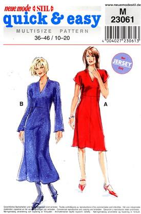 neue mode M 23061 knit dress