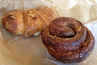 At Home - Sticky bun and croissant