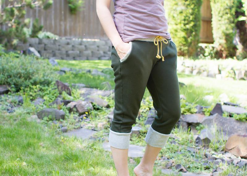 cropped hudson pants