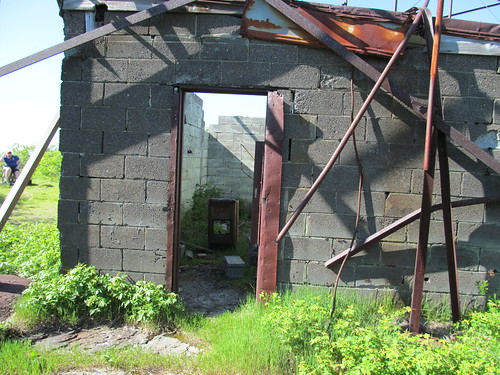 Door of the transmitter shack